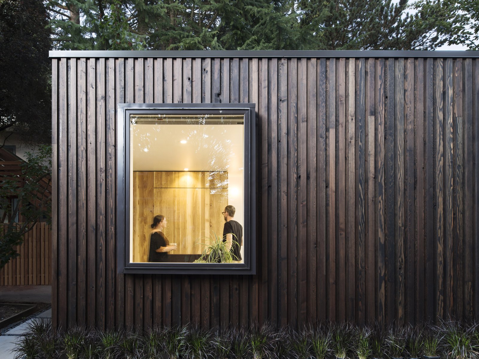 Exterior, House Building Type, Wood Siding Material, and Tiny Home Building Type  Best Photos from A Modern Micro-House in Portland Clad in Local Fir