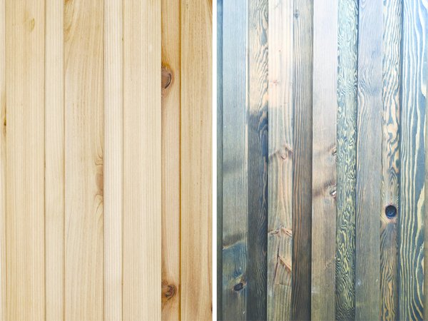 The exterior skin, a board and batten system made of local fir, was built in FWD's fabrication studio.