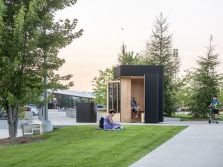 Toronto's Story Pod Doubles as a Lending Library and Community Hub - Photo 3 of 7 - The folding walls provide an open door to fellow passersby.