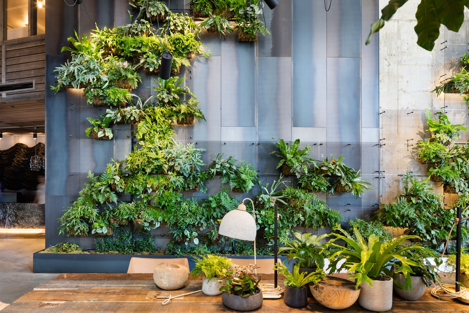 Pendant Lighting and Hallway  Photo 2 of 7 in Check Out This Brooklyn Hotel's Dramatic Living Wall Installation
