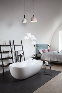 """A Stylish Hostel in a Historic Czech Fortress Starts at $16 a Night - Photo 3 of 19 - The deluxe """"Big One"""" is a luxurious escape, complete with a freestanding tub and heated floors."""