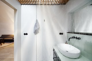Private rooms boast an ensuite bath.