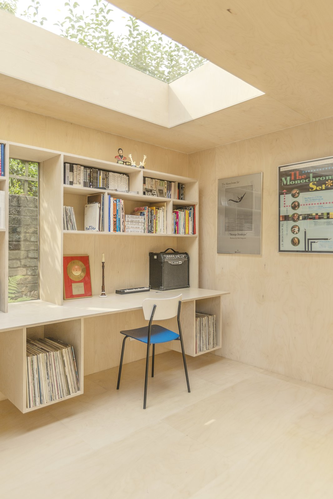 Windows, Wood, and Skylight Window Type  Photo 6 of 9 in A London Couple's Backyard Studio Is Clad in Sustainable Cork