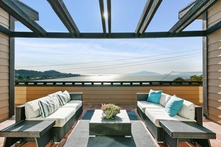 Sweeping views from the many terraces look onto the bay.