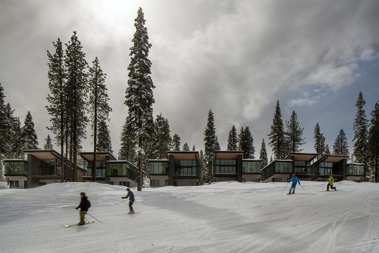Outdoor, Woodland, and Trees  Photo 10 of 11 in These Contemporary Lake Tahoe Chalets Have Ski-In, Ski-Out Access