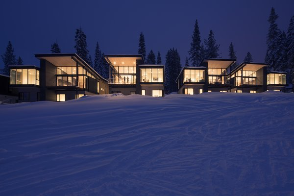 Exterior, Metal, Glass, Wood, Cabin, and House  Best Exterior Metal Wood House Glass Cabin Photos from These Contemporary Lake Tahoe Chalets Have Ski-In, Ski-Out Access