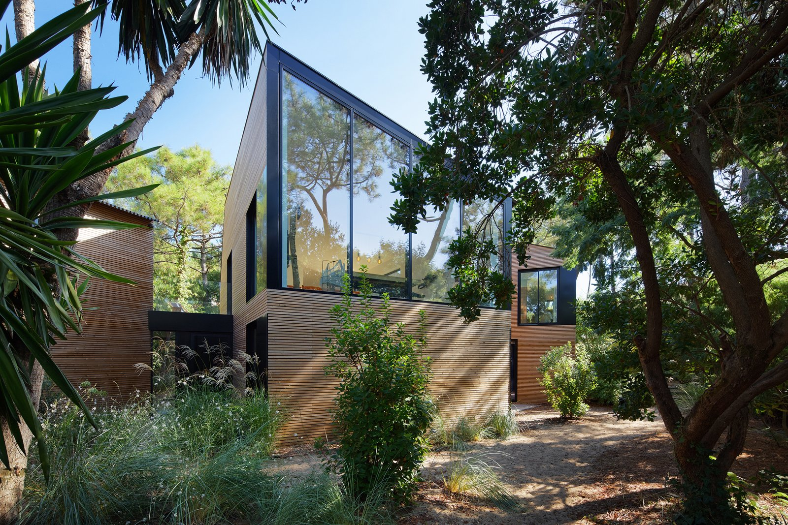 Multiple Modern Cabins Make Up This French Holiday Home