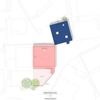 These Pink and Blue Homes Use Gender as a Metaphor For Urban Revitalization - Photo 2 of 17 - Site Plan