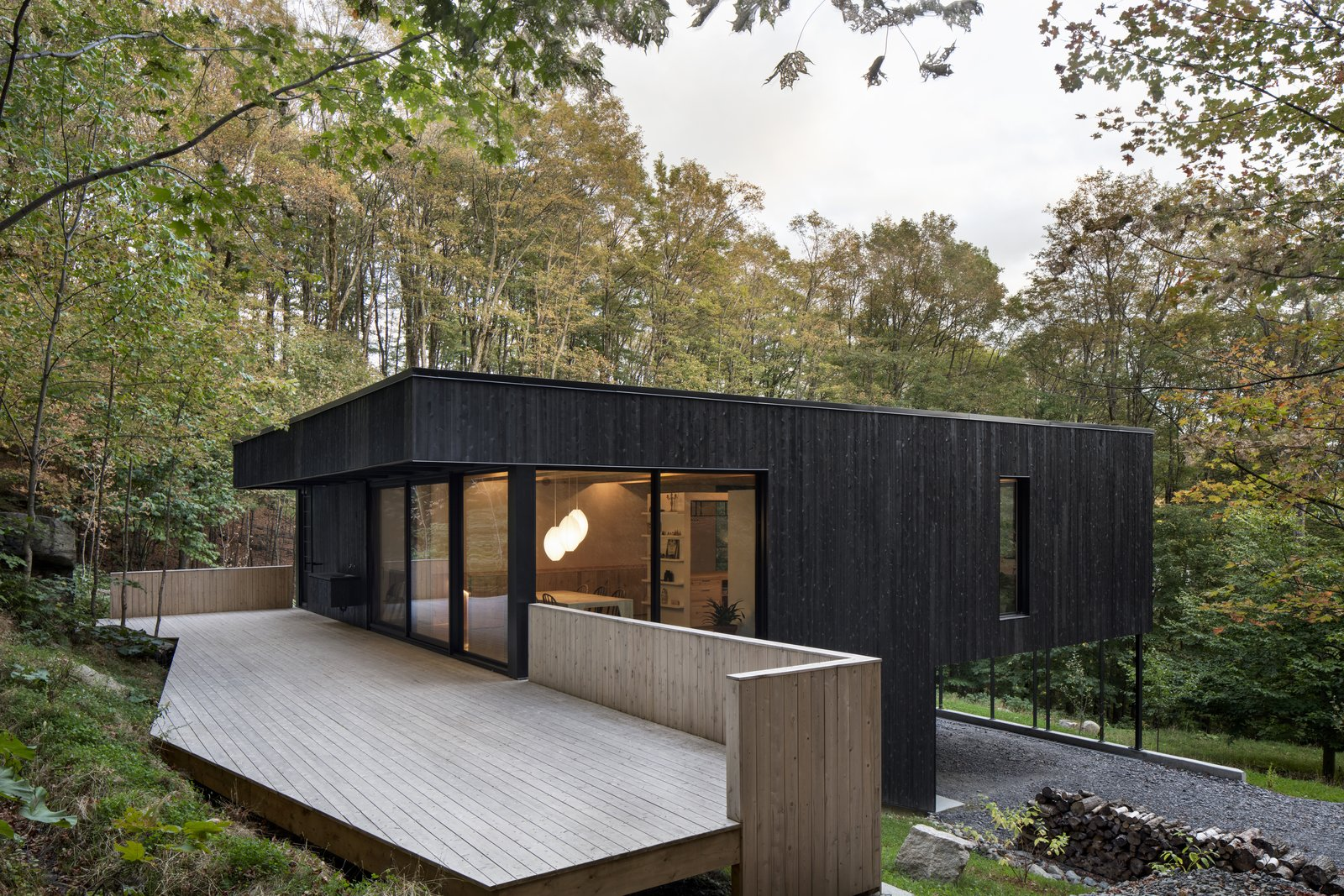 This Wood-Clad Home Is Built Into a Serene Mountain Slope