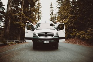 The new van will be more of an adventure mobile, as the larger size will allow the couple to store all of their gear and live more comfortably.