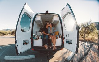 These Digital Nomads Live, Work, & Travel in a Sprinter Van