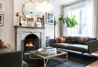 The home's furnishings and decor reflect the couple's personal style, with a blend of midcentury modern and Scandinavian-inspired pieces.
