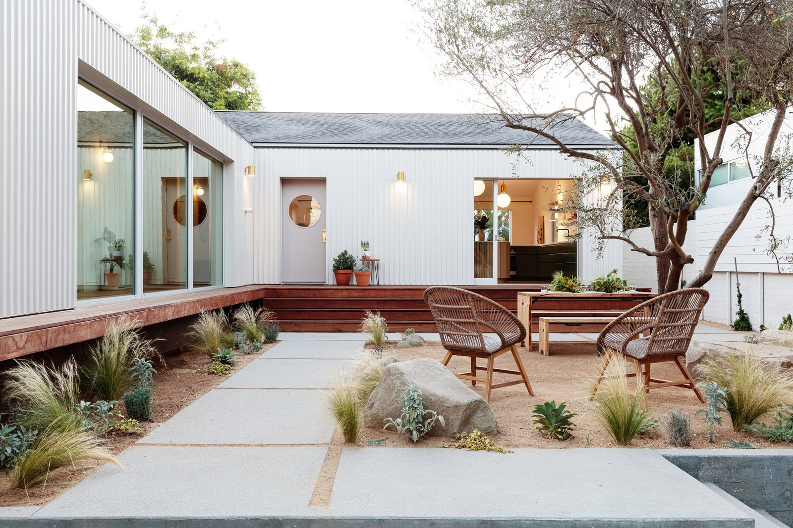 Exterior, House Building Type, Metal Siding Material, and Gable RoofLine  Photo 1 of 21 in My House: An Architect Couple's Playful Courtyard Home in Los Angeles