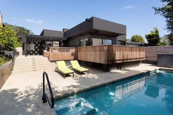 Swimming pool at rear yard