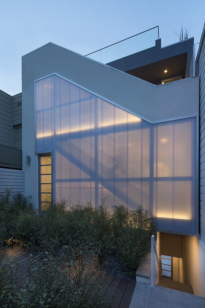 Outdoor, Back Yard, Shrubs, Hardscapes, and Landscape Lighting  LEED Platinum House in SF by DNM Architecture