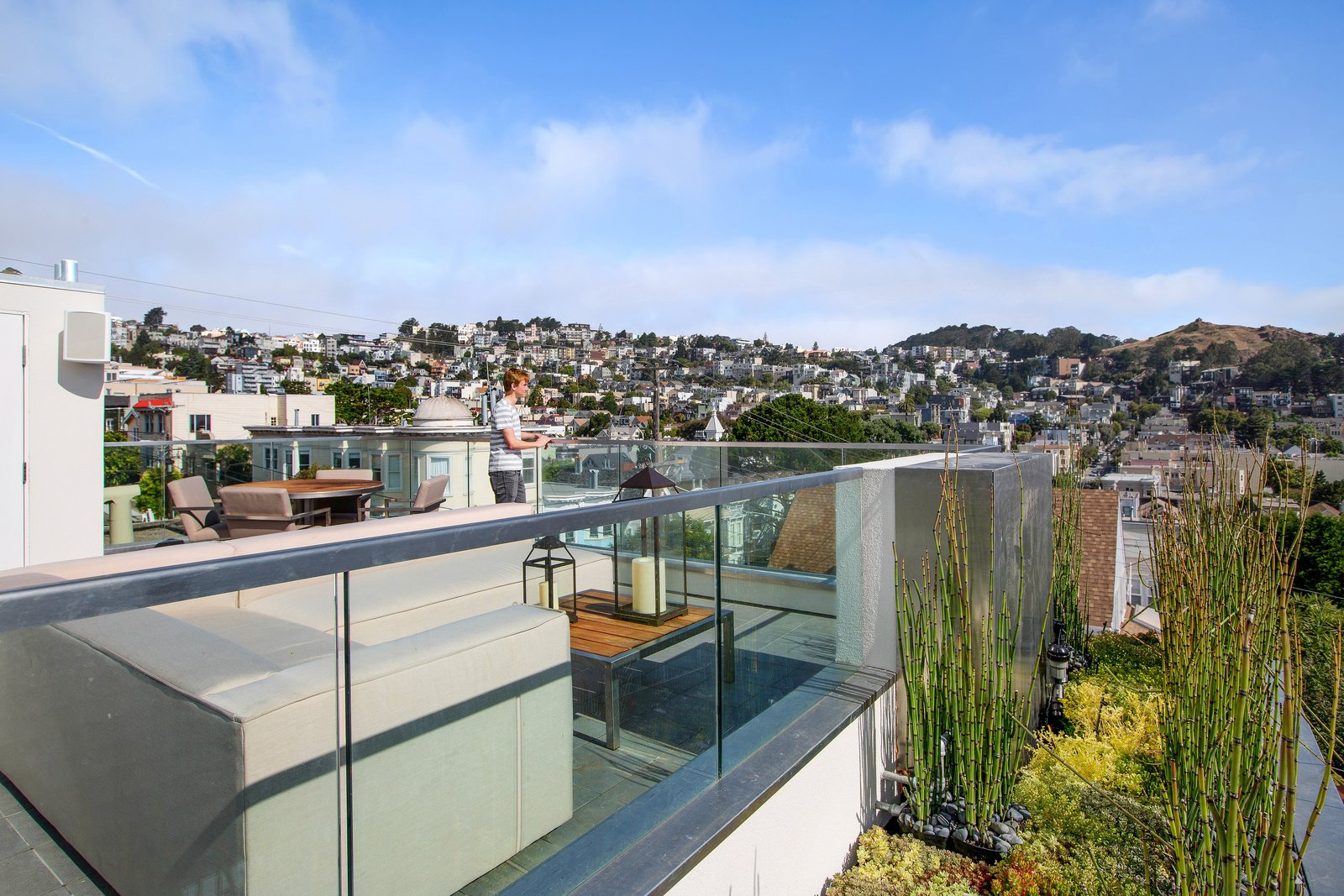 Outdoor, Rooftop, Large Patio, Porch, Deck, and Tile Patio, Porch, Deck  LEED Platinum House in SF by DNM Architecture