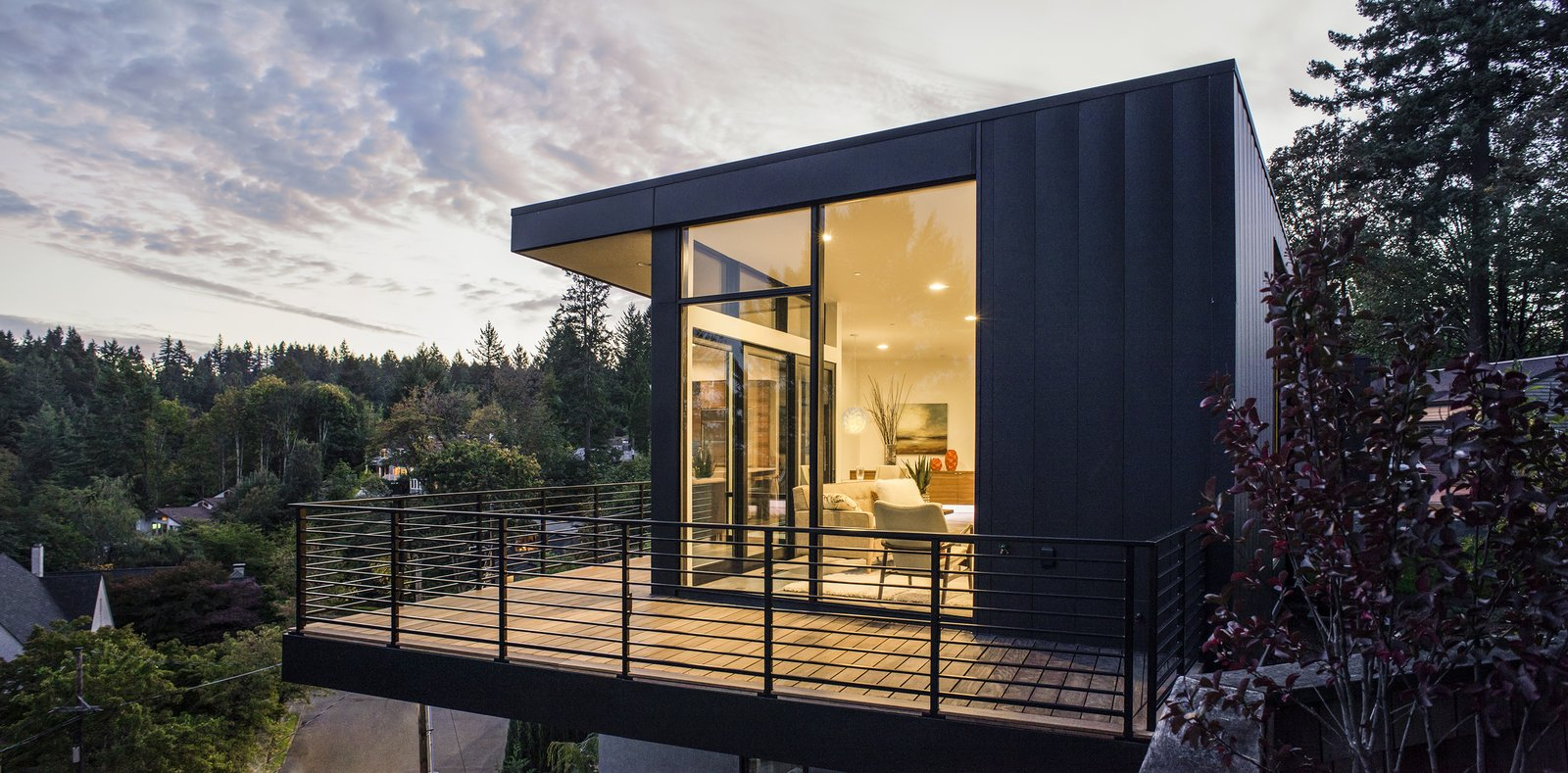 Outdoor, Trees, Shrubs, and Grass Deck  Canterbury Residence by Scott | Edwards Architecture