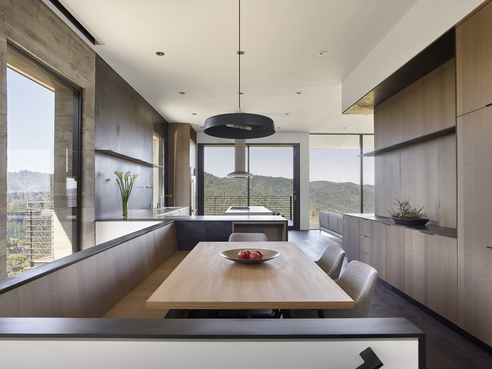 Dining, Bench, Accent, Table, Chair, Pendant, Dark Hardwood, Lamps, Ceiling, Shelves, and Storage  Dining Chair Shelves Accent Photos from Saratoga Canyon