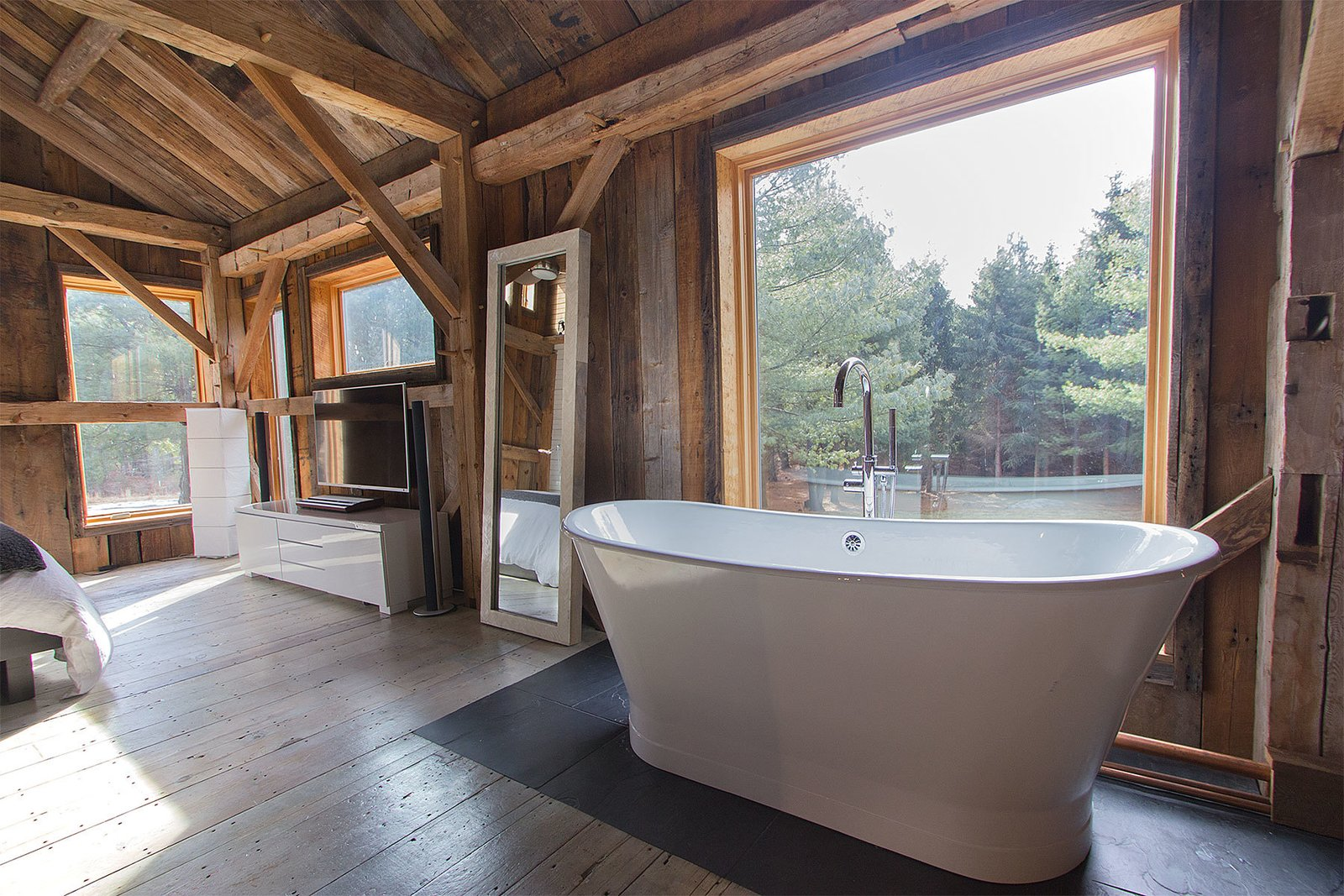 Bath, Light Hardwood, One Piece, Ceiling, and Freestanding  Bath Light Hardwood Freestanding Ceiling Photos from Vintage Barn