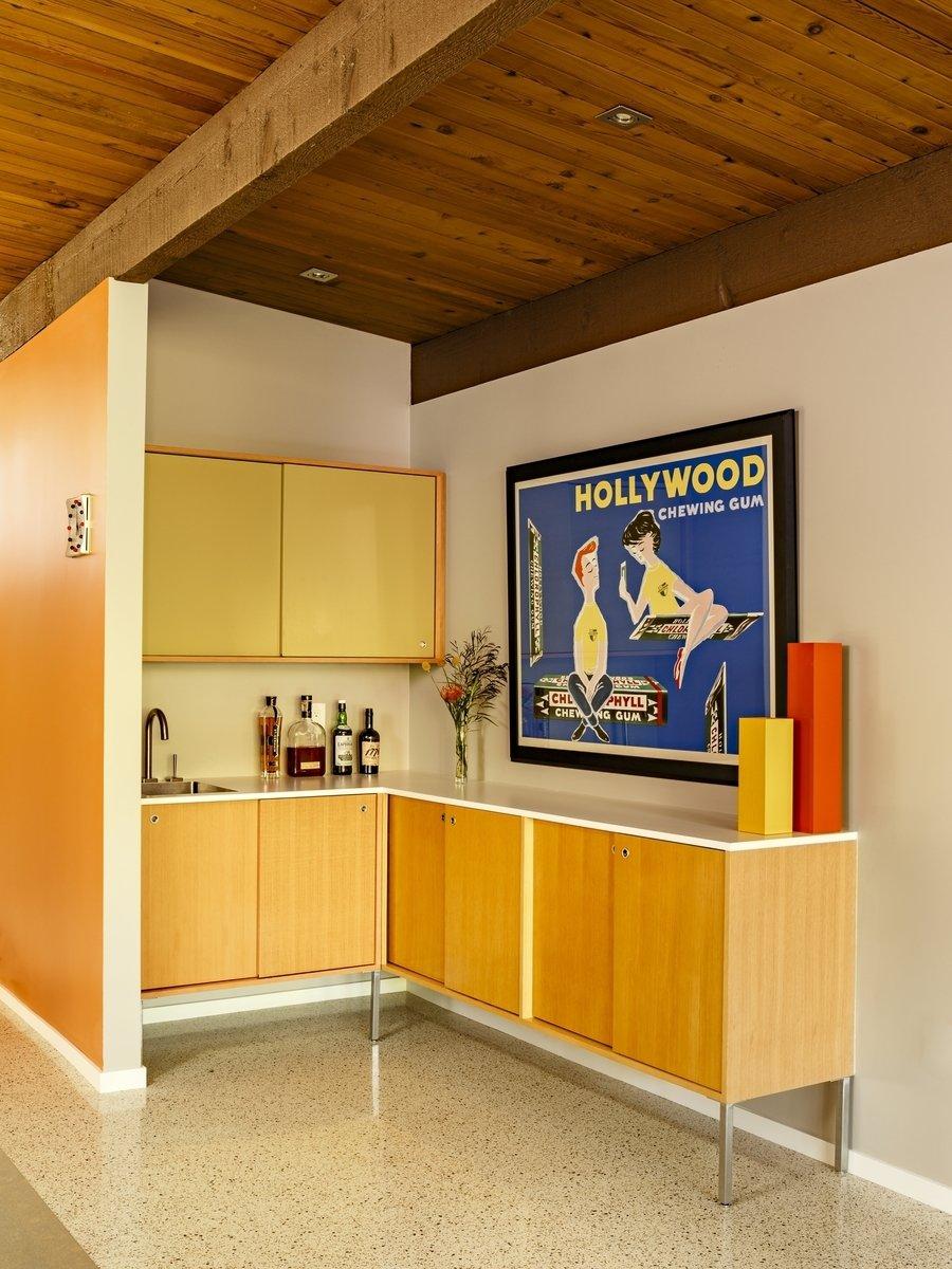 Kitchen, Beverage Center, Engineered Quartz, Wood, Terrazzo, Recessed, and Undermount  Best Kitchen Engineered Quartz Beverage Center Photos from Nathan