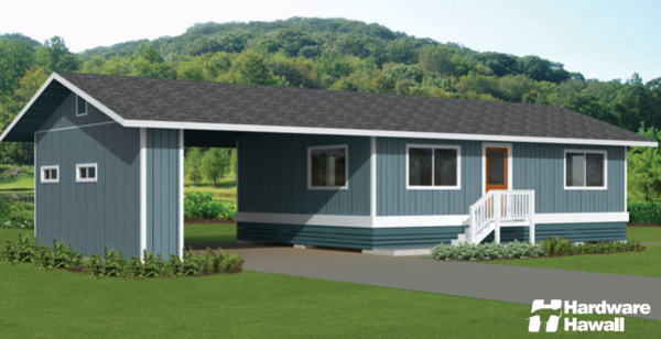 Hardware Hawaii offers eight kit home options. The roof styles, decks, carports, and more can be customized to fit your own personal taste.