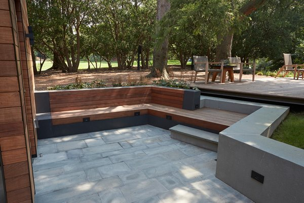 Outdoor, Stone Patio, Porch, Deck, Large Patio, Porch, Deck, Swimming Pools, Tubs, Shower, Large Pools, Tubs, Shower, Hot Tub Pools, Tubs, Shower, Concrete Patio, Porch, Deck, Woodland, Back Yard, Shower Pools, Tubs, Shower, and Wood Patio, Porch, Deck  OUTbuilding by in.site:architecture