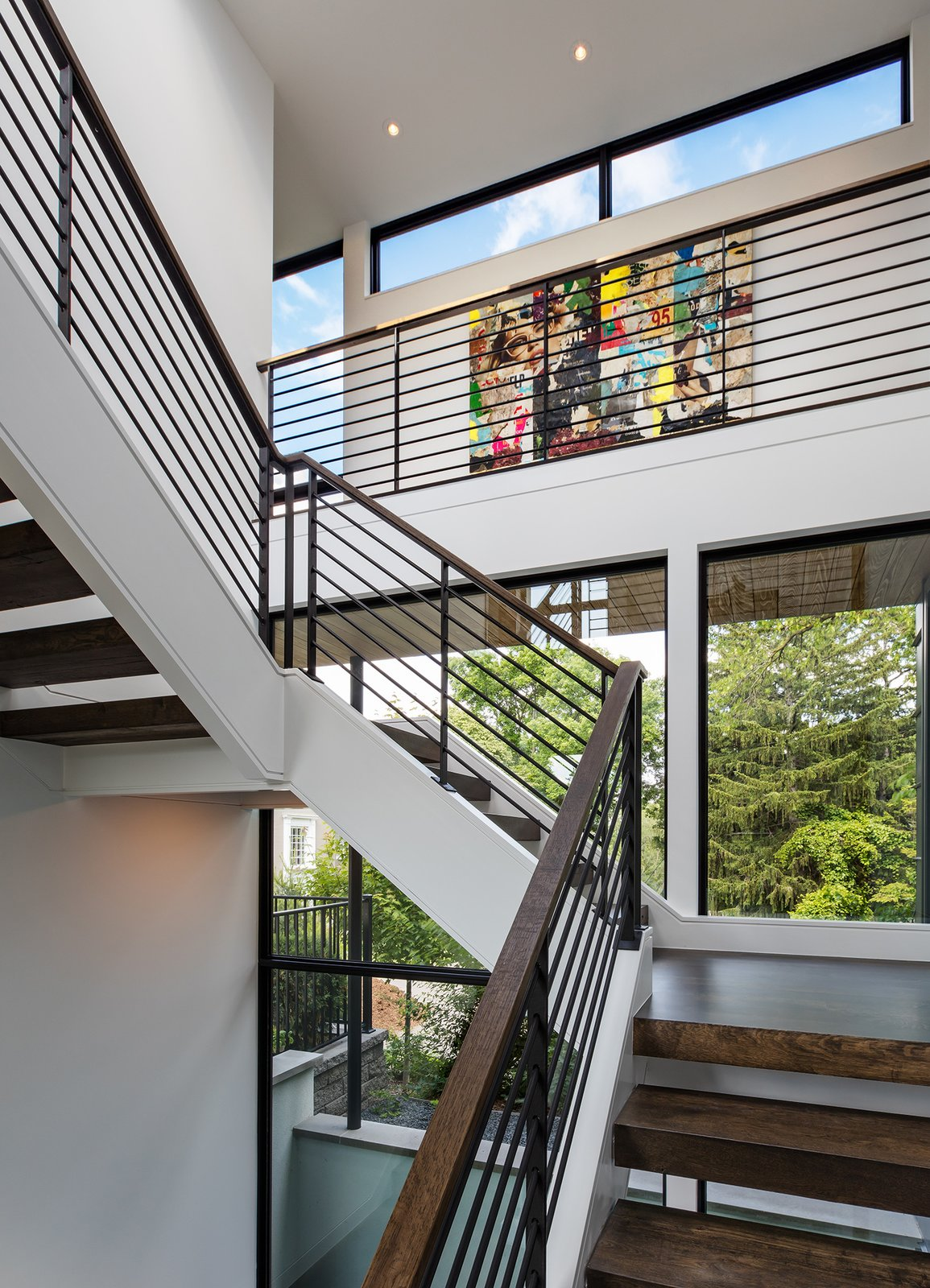 Wood Tread, Metal Railing, Windows, Awning Window Type, Picture Window Type, and Metal  Calhoun Pavilions Residence by Peterssen/Keller Architecture
