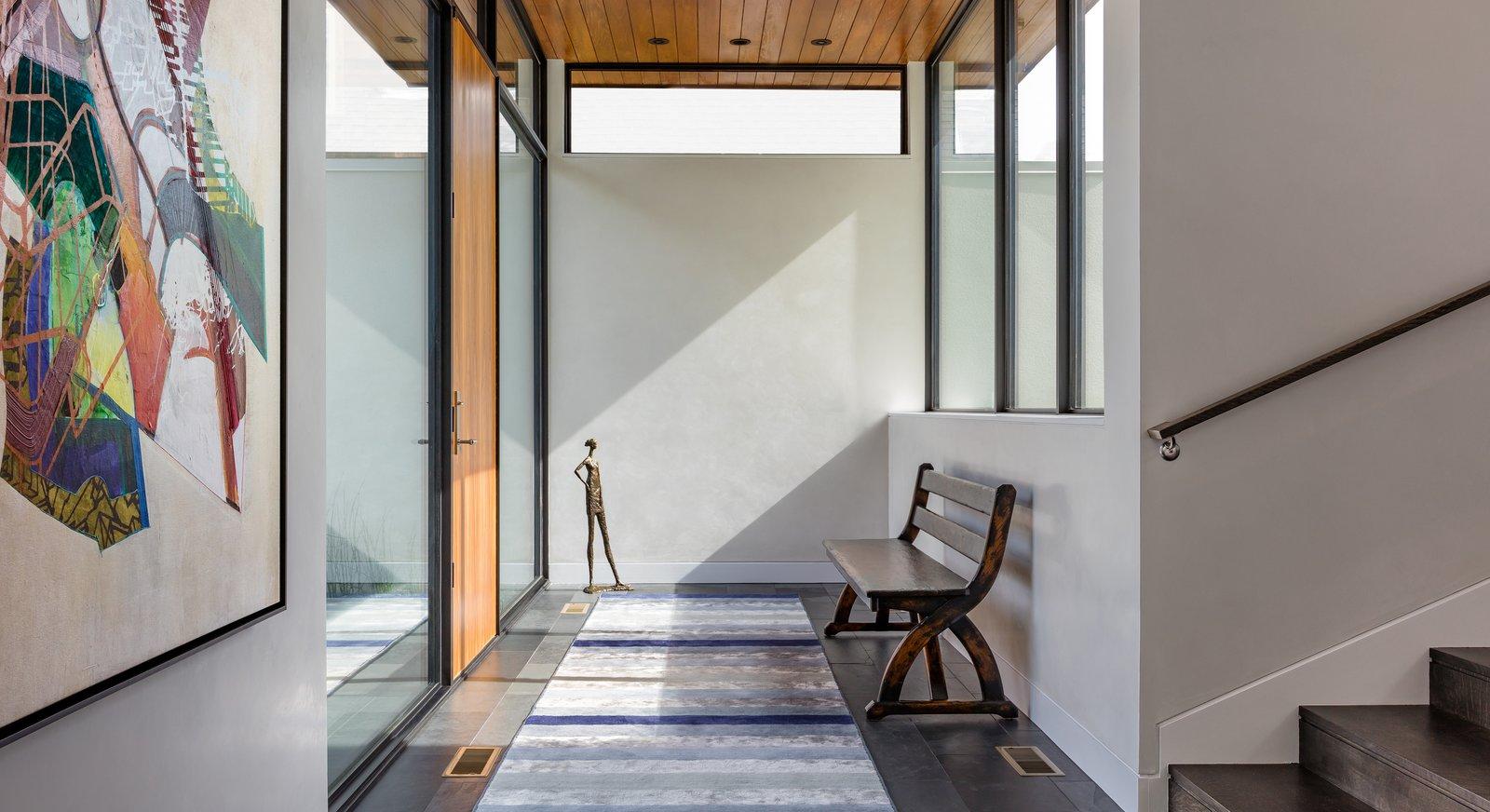 Ceramic Tile Floor, Exterior, Swing Door Type, Windows, Picture Window Type, and Metal  Calhoun Pavilions Residence by Peterssen/Keller Architecture