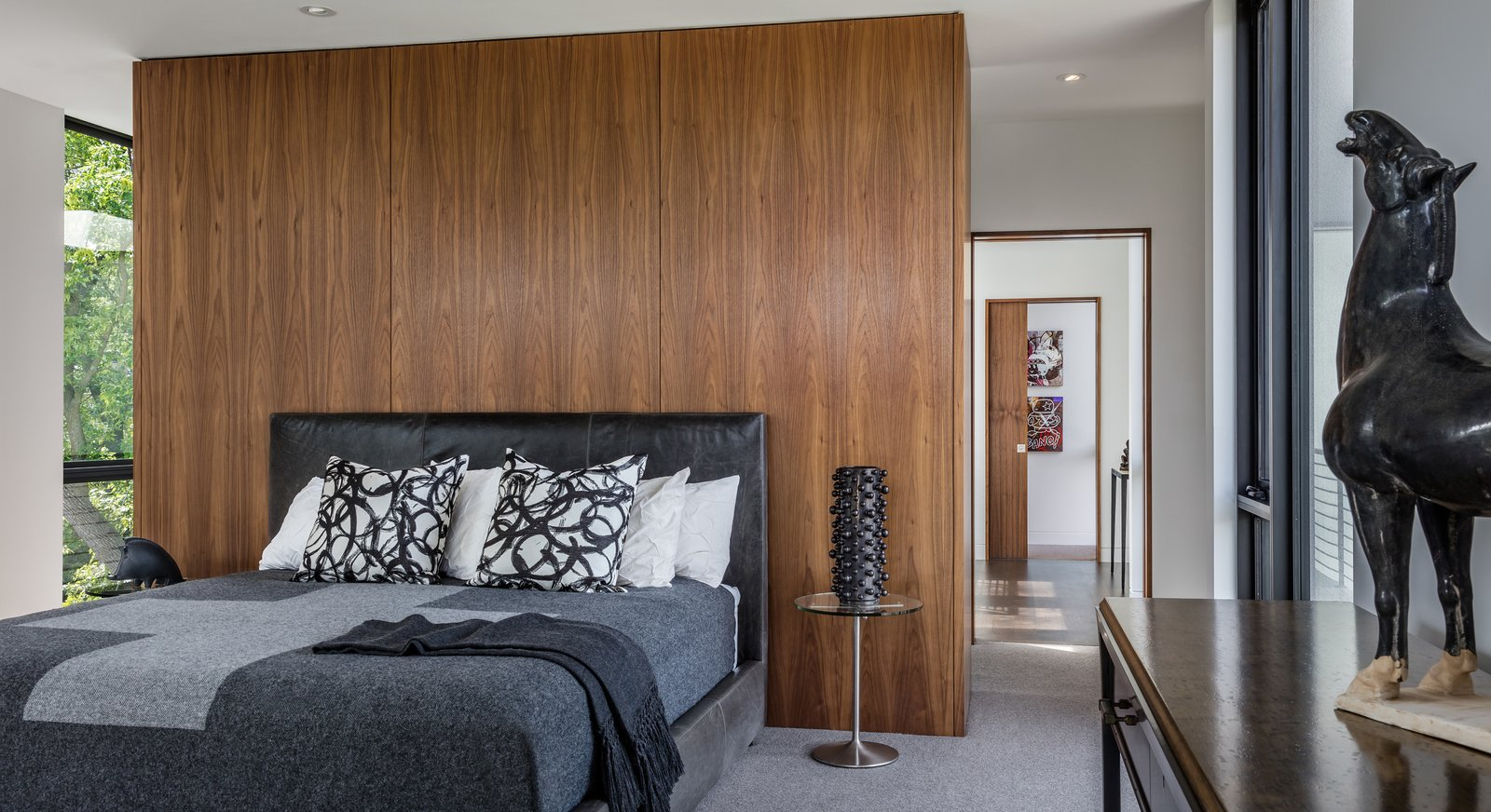 Bedroom, Storage, Bed, and Ceiling Lighting  Calhoun Pavilions Residence by Peterssen/Keller Architecture