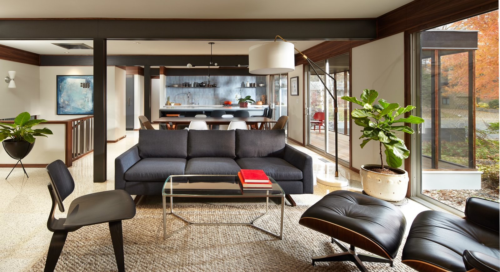 Living Room, Chair, Sofa, and Floor Lighting  South Tyrol Mid-Century by Peterssen/Keller Architecture