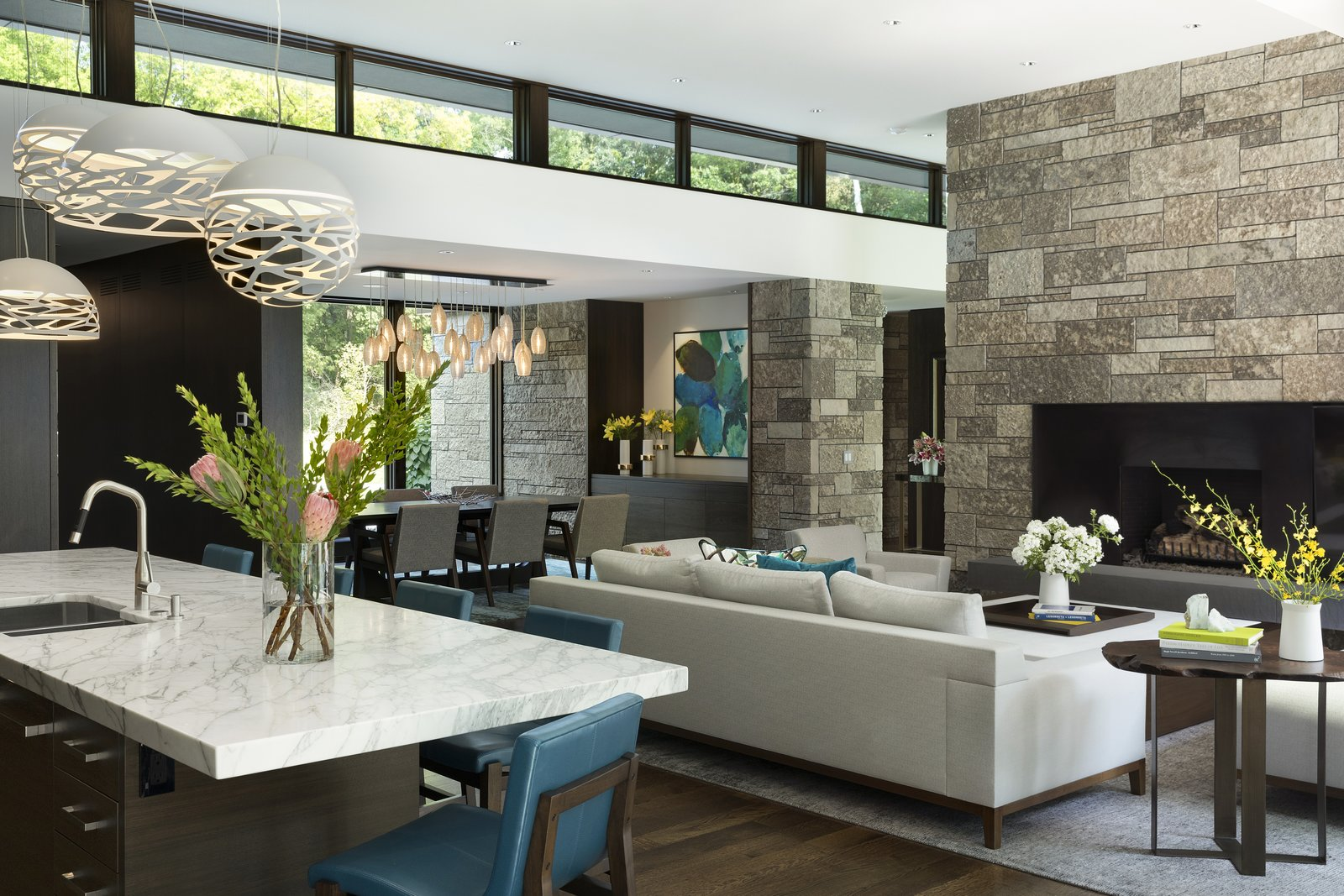 Living, Chair, Sectional, End Tables, Console Tables, and Medium Hardwood  Best Living Sectional Console Tables Photos