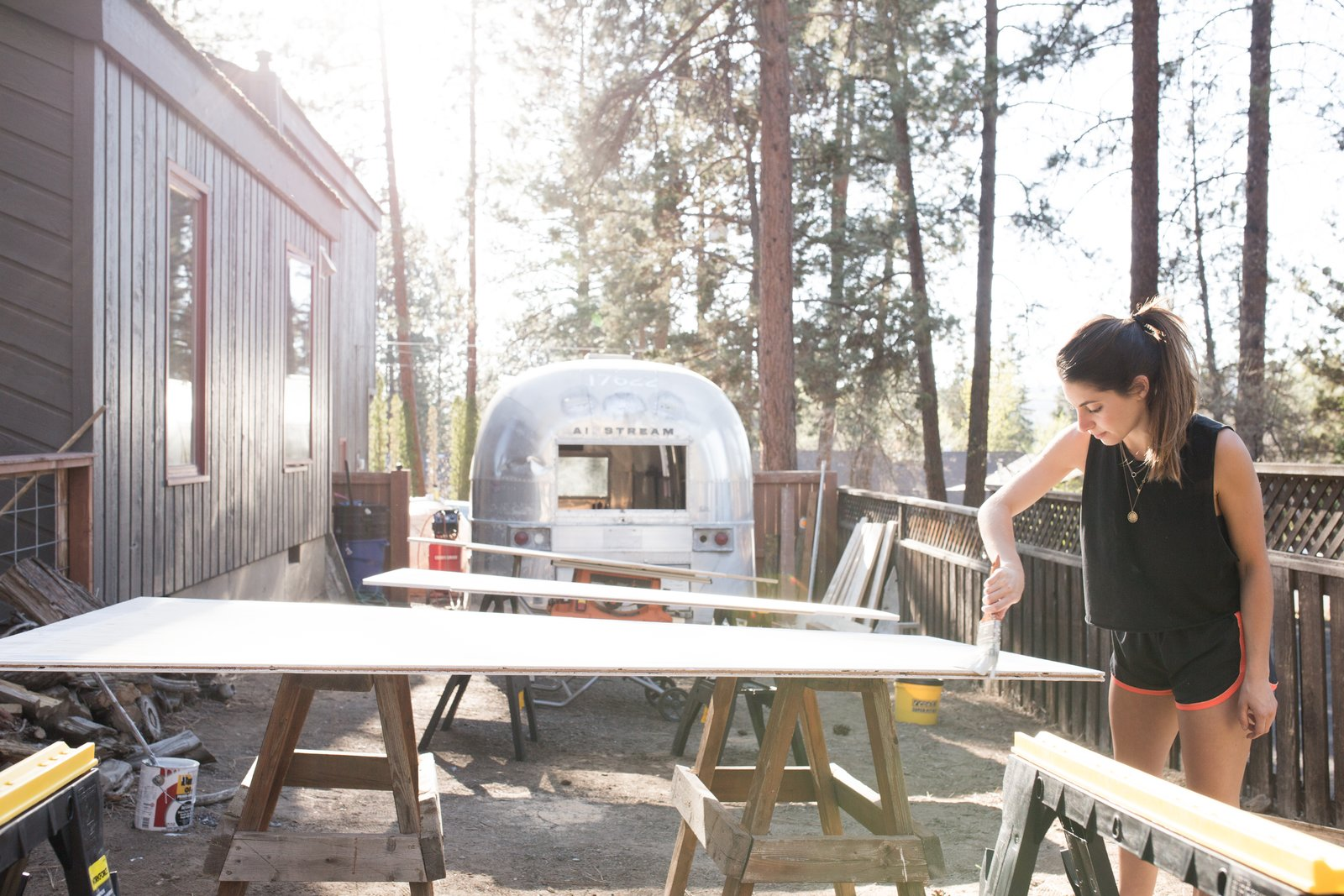 Exterior, Metal Siding Material, Airstream Building Type, and Tiny Home Building Type  Photo 20 of 21 in 10 Things You Should Know Before Moving Into a Tiny Home from See How an Oregon Couple Renovated Their 1966 Airstream