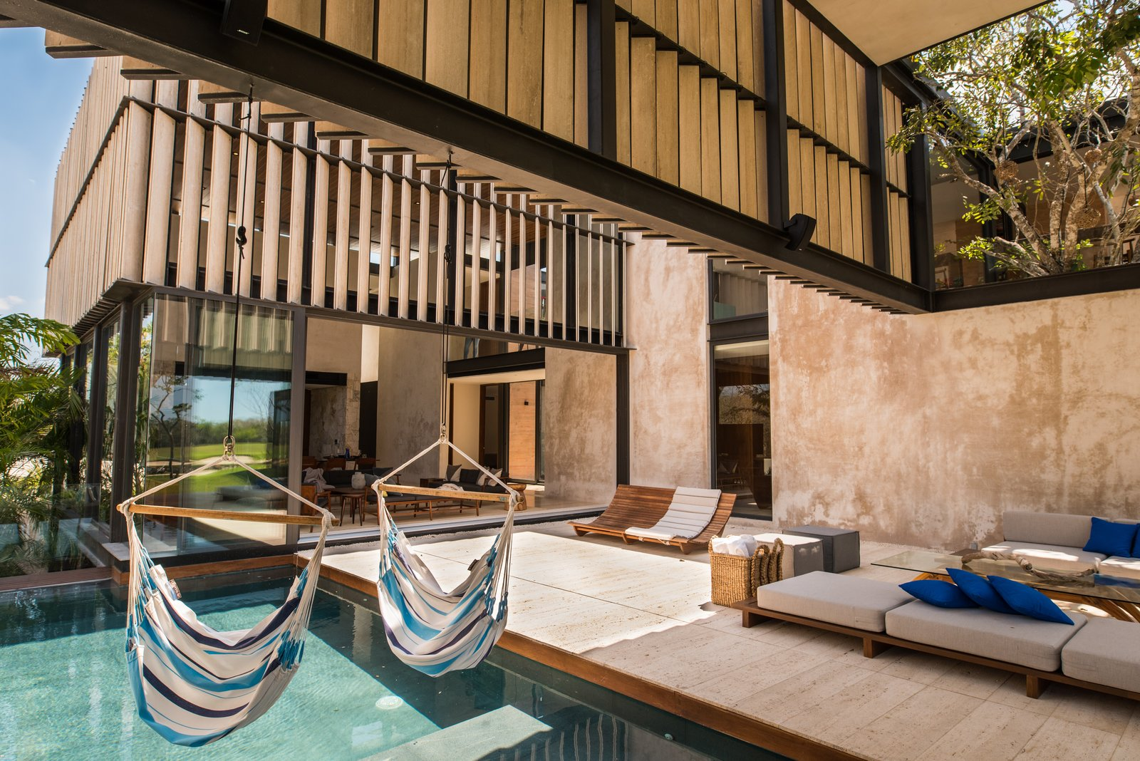 Outdoor, Standard Construction Pools, Tubs, Shower, and Back Yard Pool  Casa Chaaltun by tescala