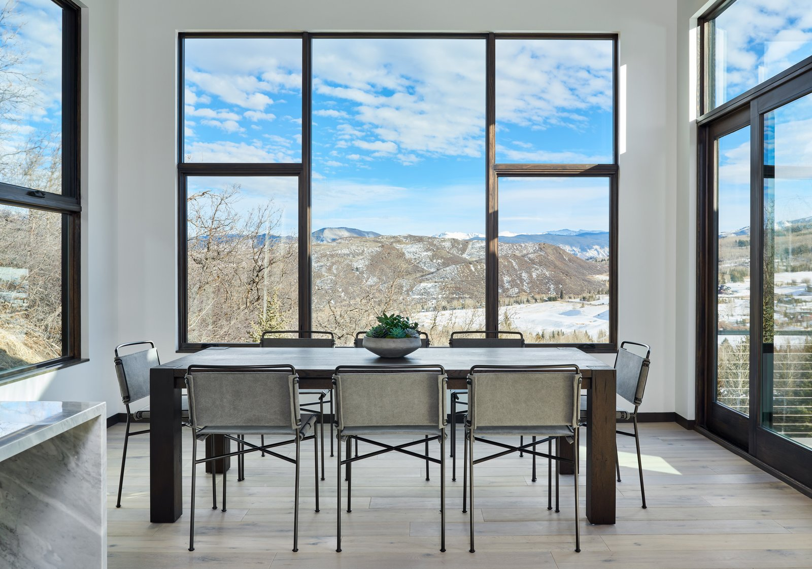 Dining Room, Medium Hardwood Floor, Table, and Chair  Terrace Drive by KA DesignWorks