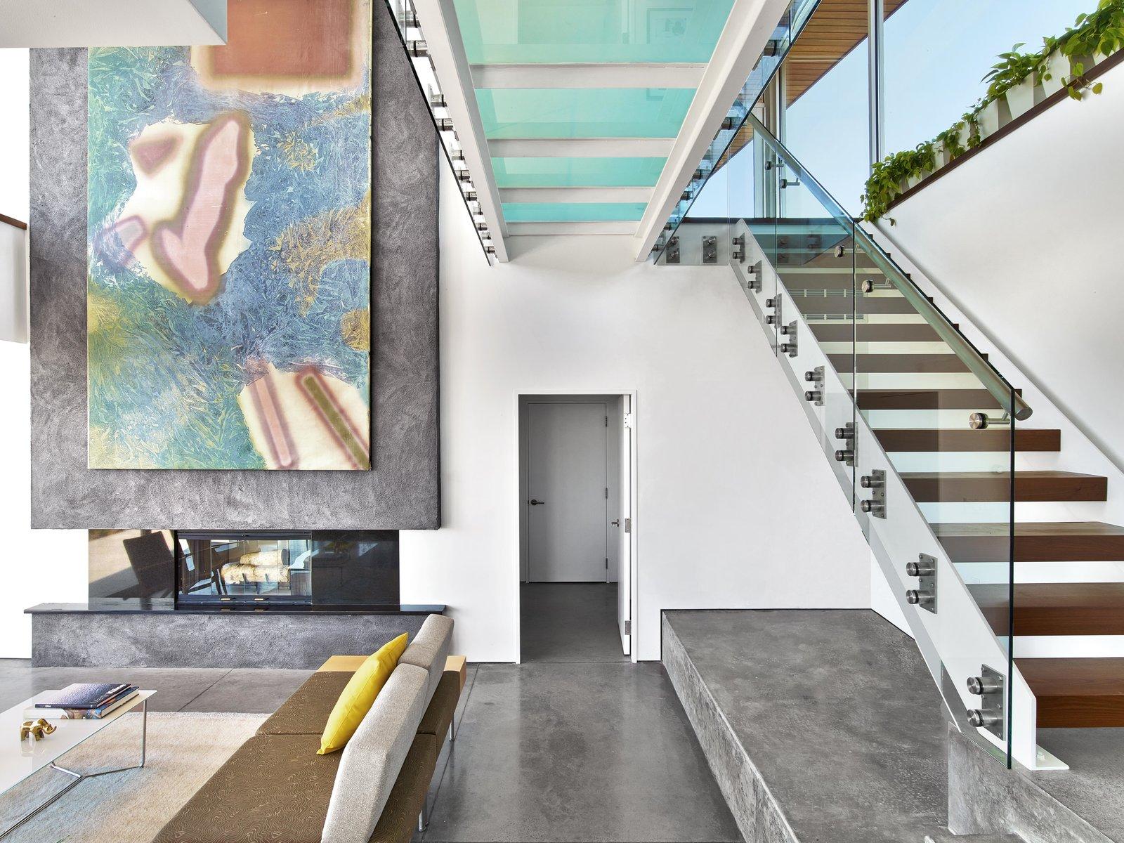 Tagged: Living Room, Sofa, and Concrete Floor.  Cape Cod - Beach House by Hariri & Hariri Architecture