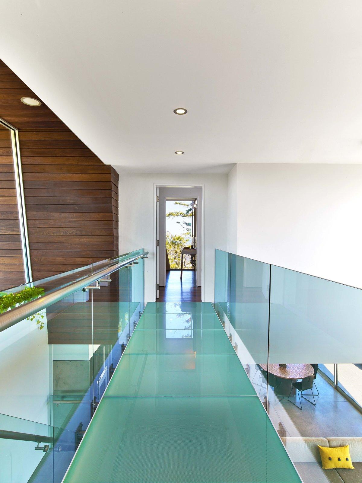 Staircase and Glass Railing  Cape Cod - Beach House by Hariri & Hariri Architecture