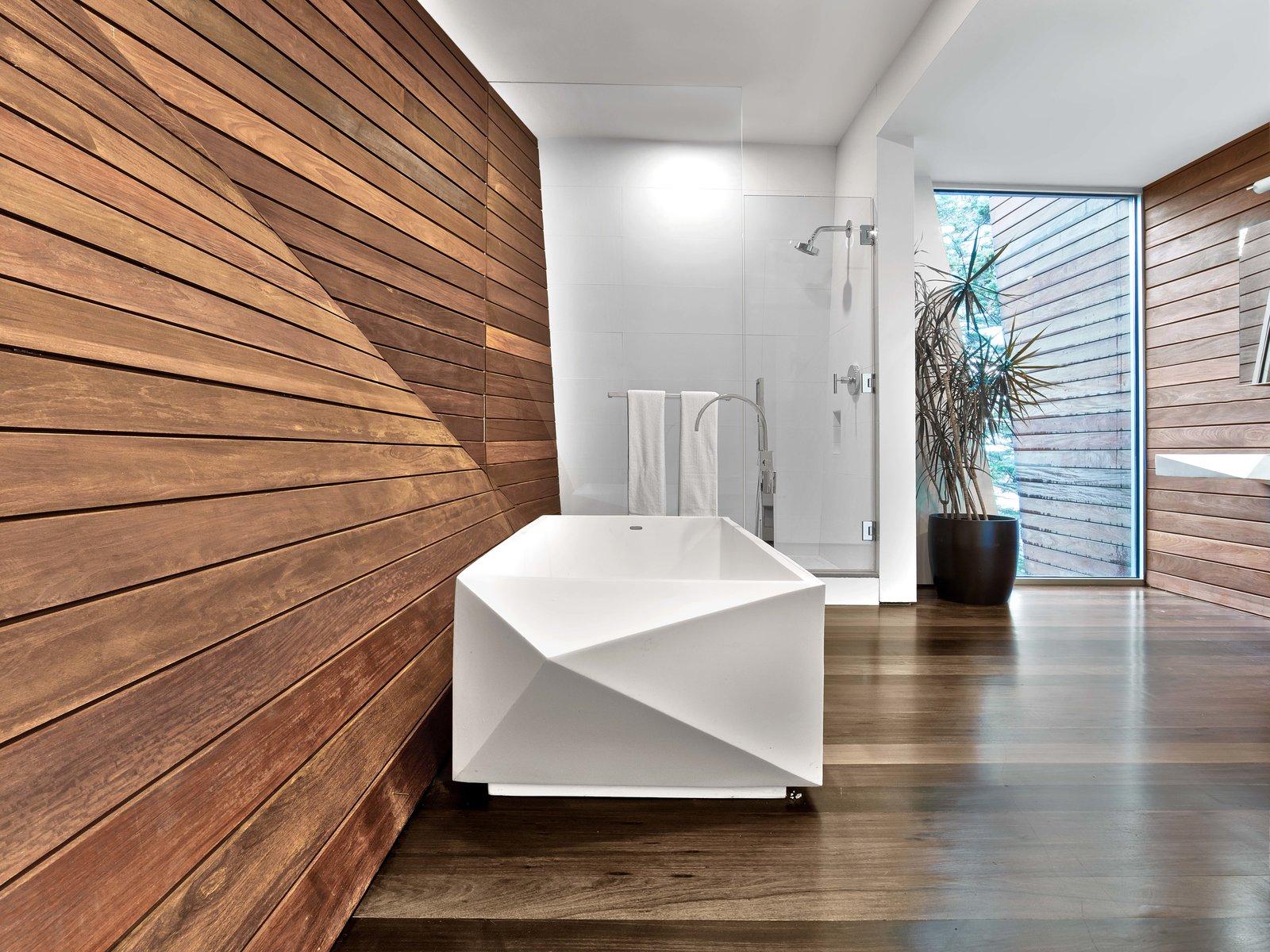 Bath Room and Medium Hardwood Floor  Cape Cod - Beach House by Hariri & Hariri Architecture