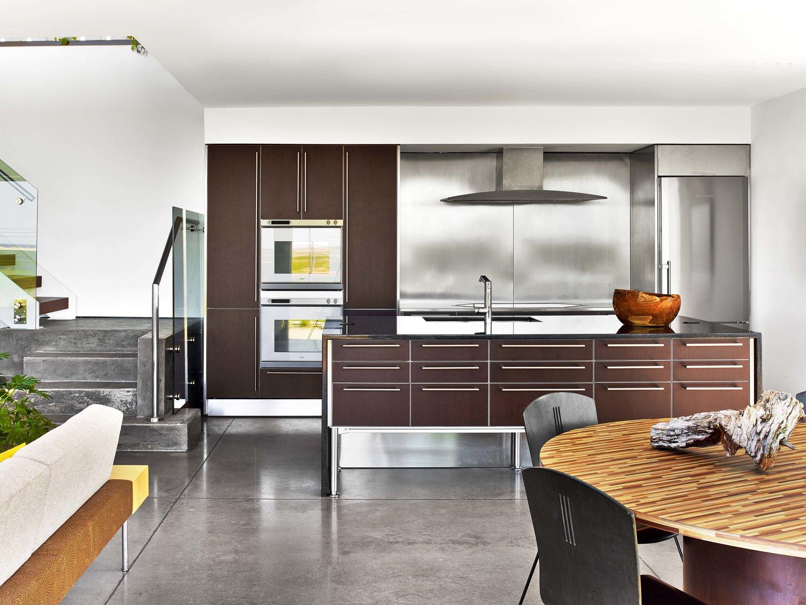 Kitchen, Refrigerator, and Wall Oven  Cape Cod - Beach House by Hariri & Hariri Architecture