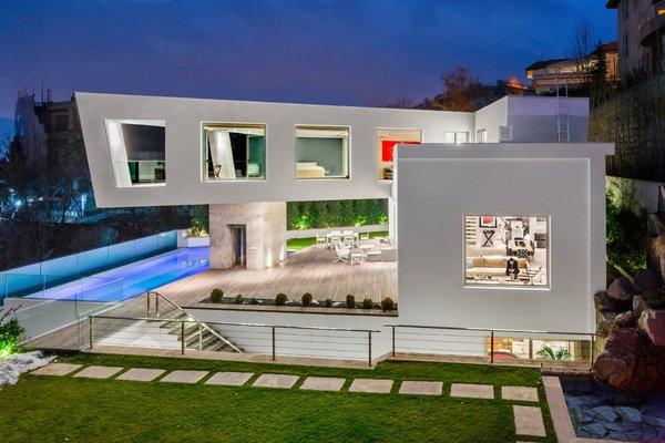 Outdoor, Walkways, Gardens, and Pavers Patio, Porch, Deck  Lavasan Villa by Hariri & Hariri Architecture