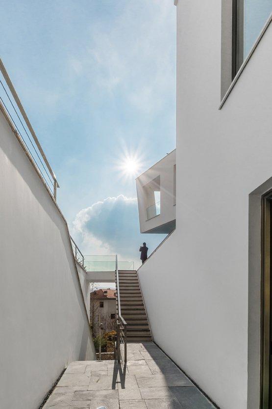 Staircase, Wood Tread, and Metal Railing  Lavasan Villa by Hariri & Hariri Architecture