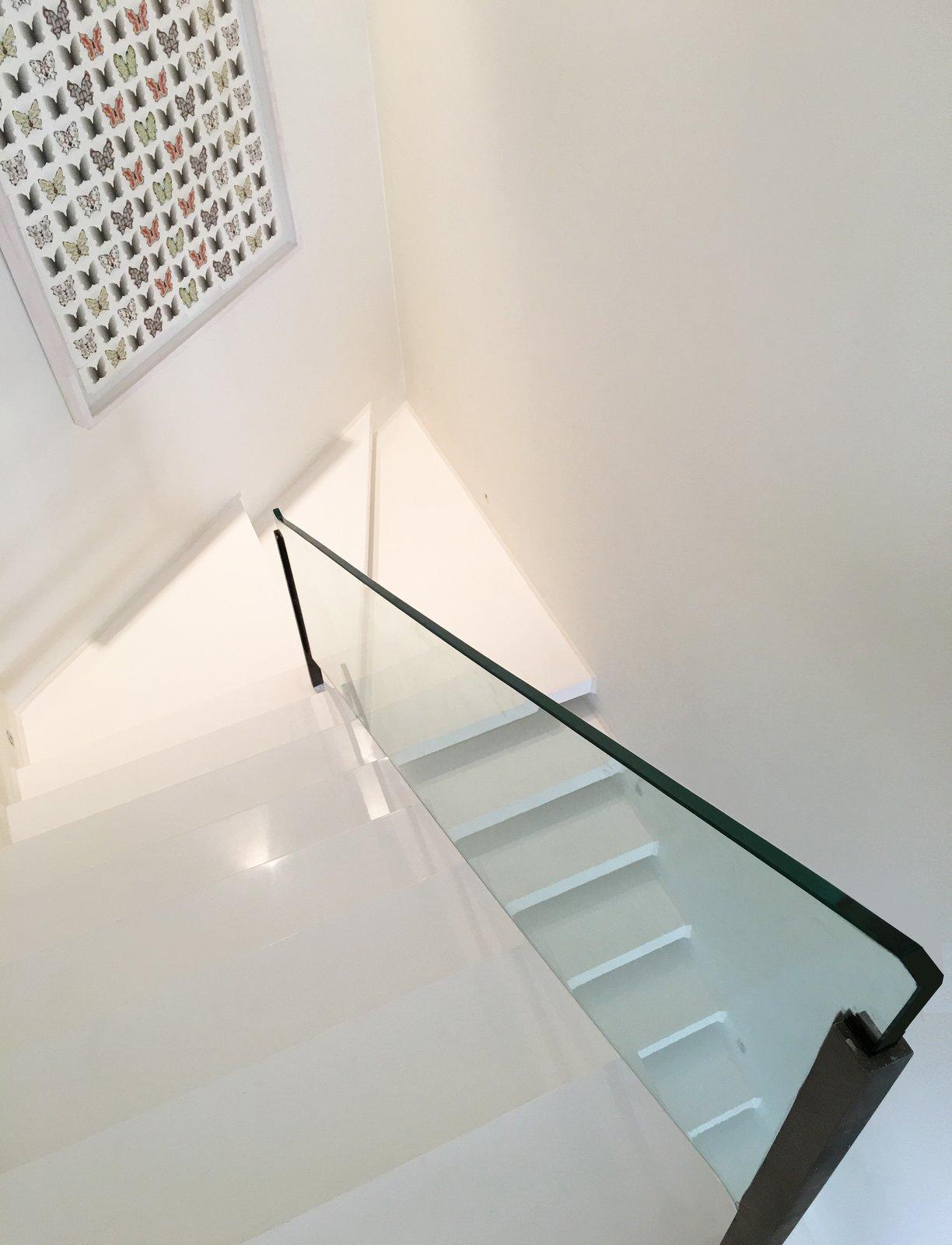 Staircase, Concrete Tread, and Glass Railing  Lavasan Villa by Hariri & Hariri Architecture
