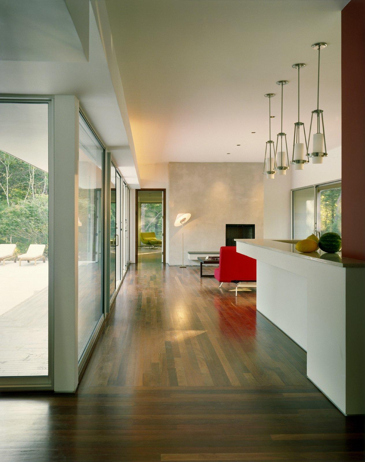 Living Room and Medium Hardwood Floor  Sagaponac House by Hariri & Hariri Architecture