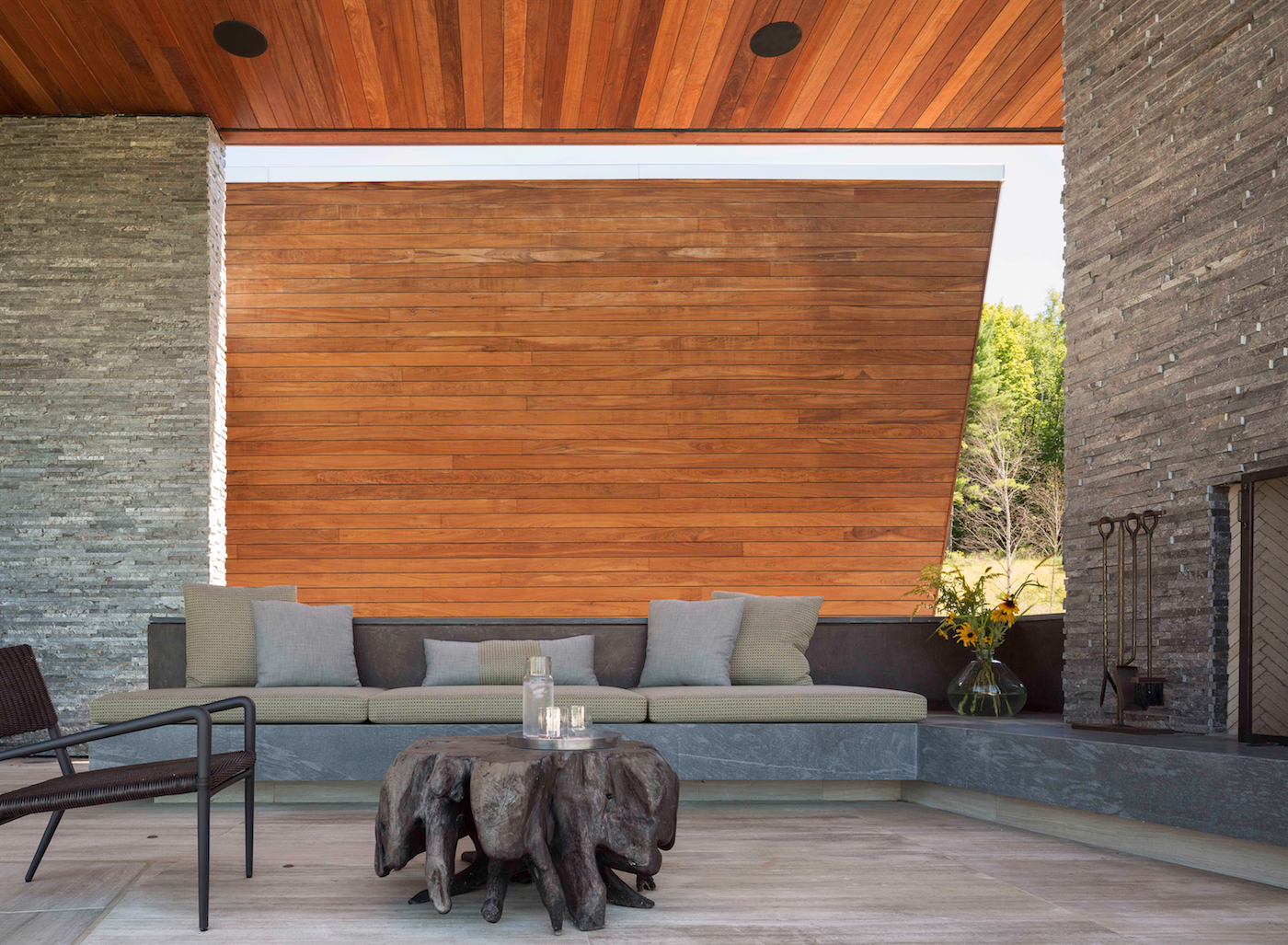 Outdoor, Back Yard, and Wood Patio, Porch, Deck  Taghkanic House by Hariri & Hariri Architecture