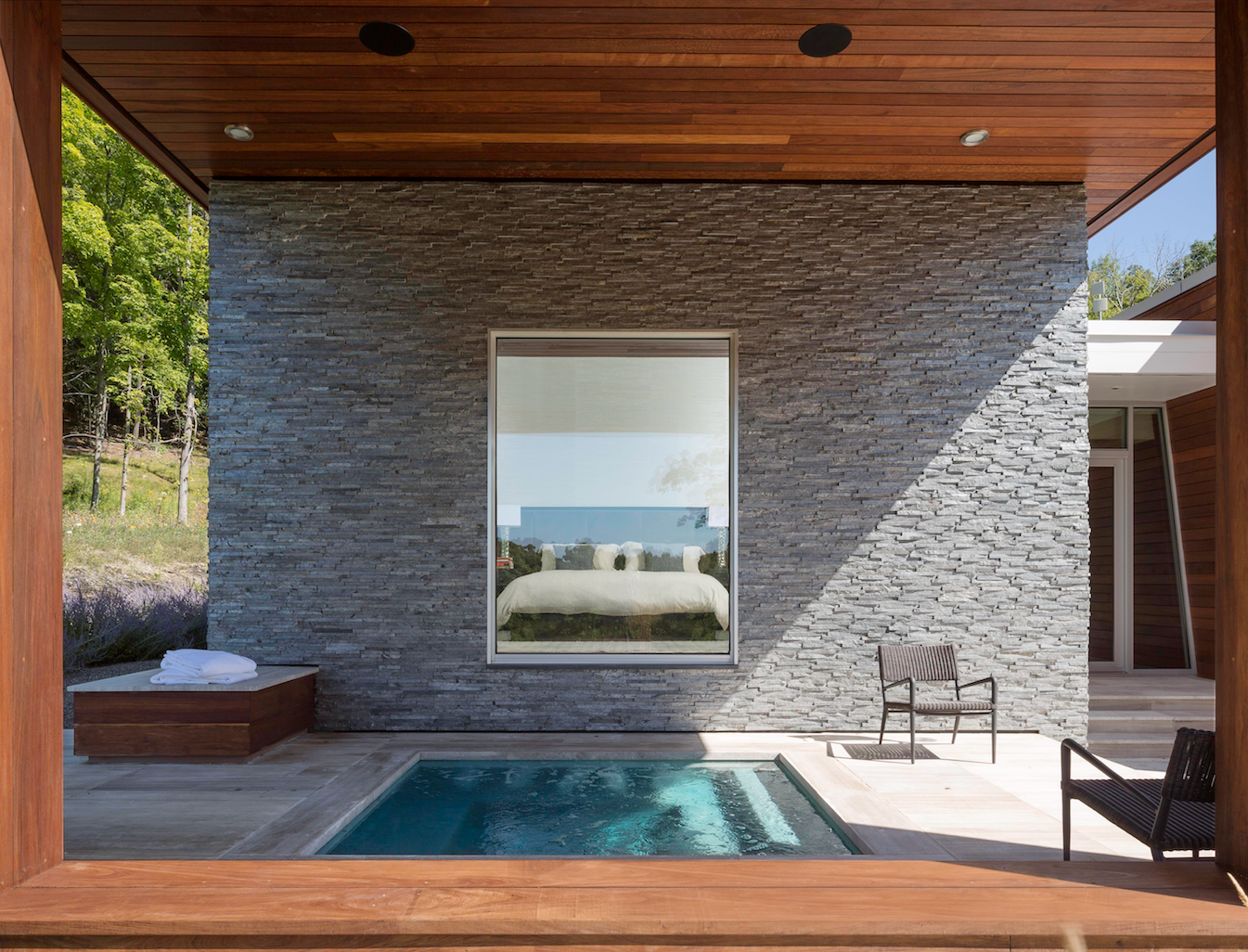 Outdoor, Small Pools, Tubs, Shower, and Wood Patio, Porch, Deck  Taghkanic House by Hariri & Hariri Architecture