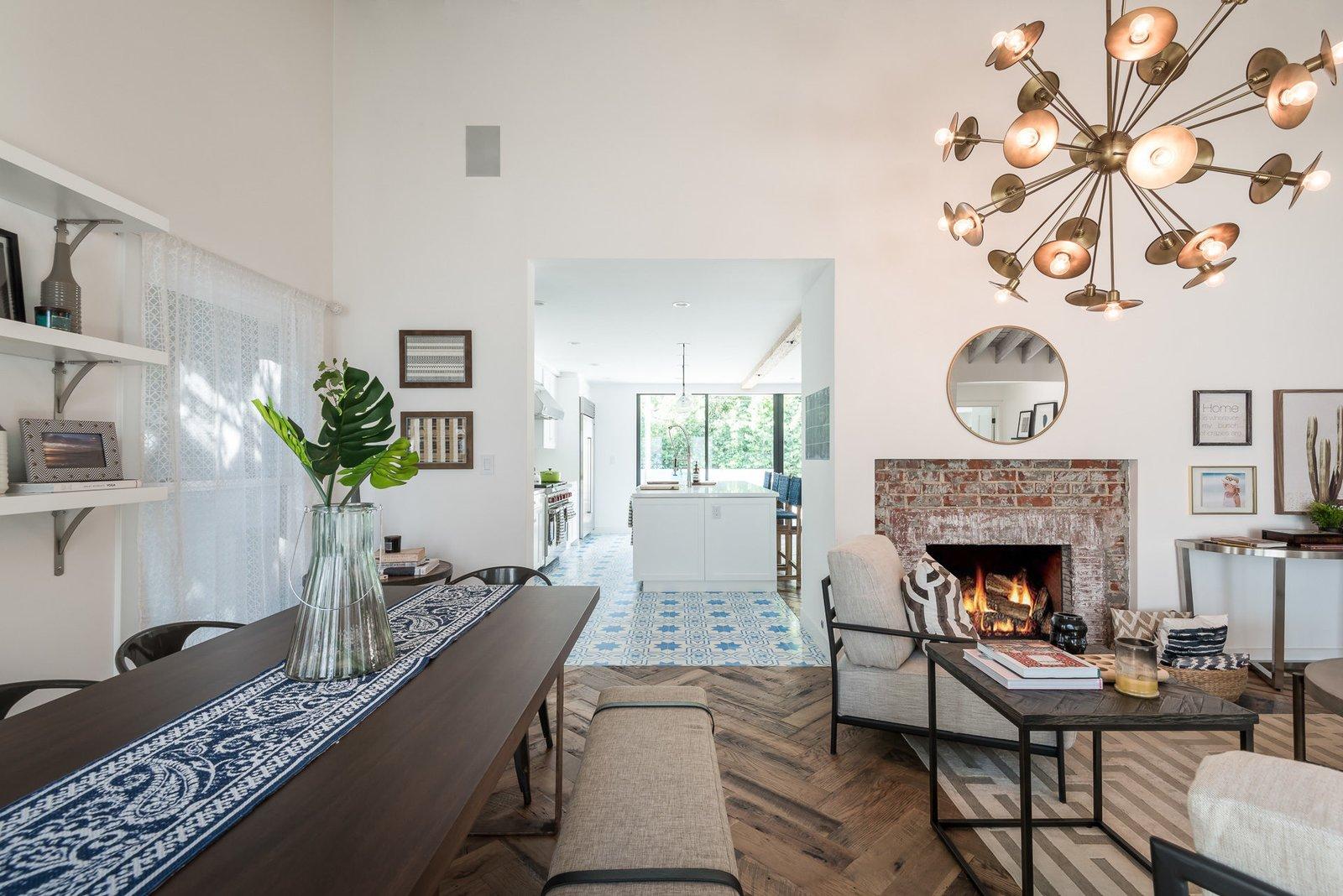 Living Room  Mid-Century Meets Boho Chic