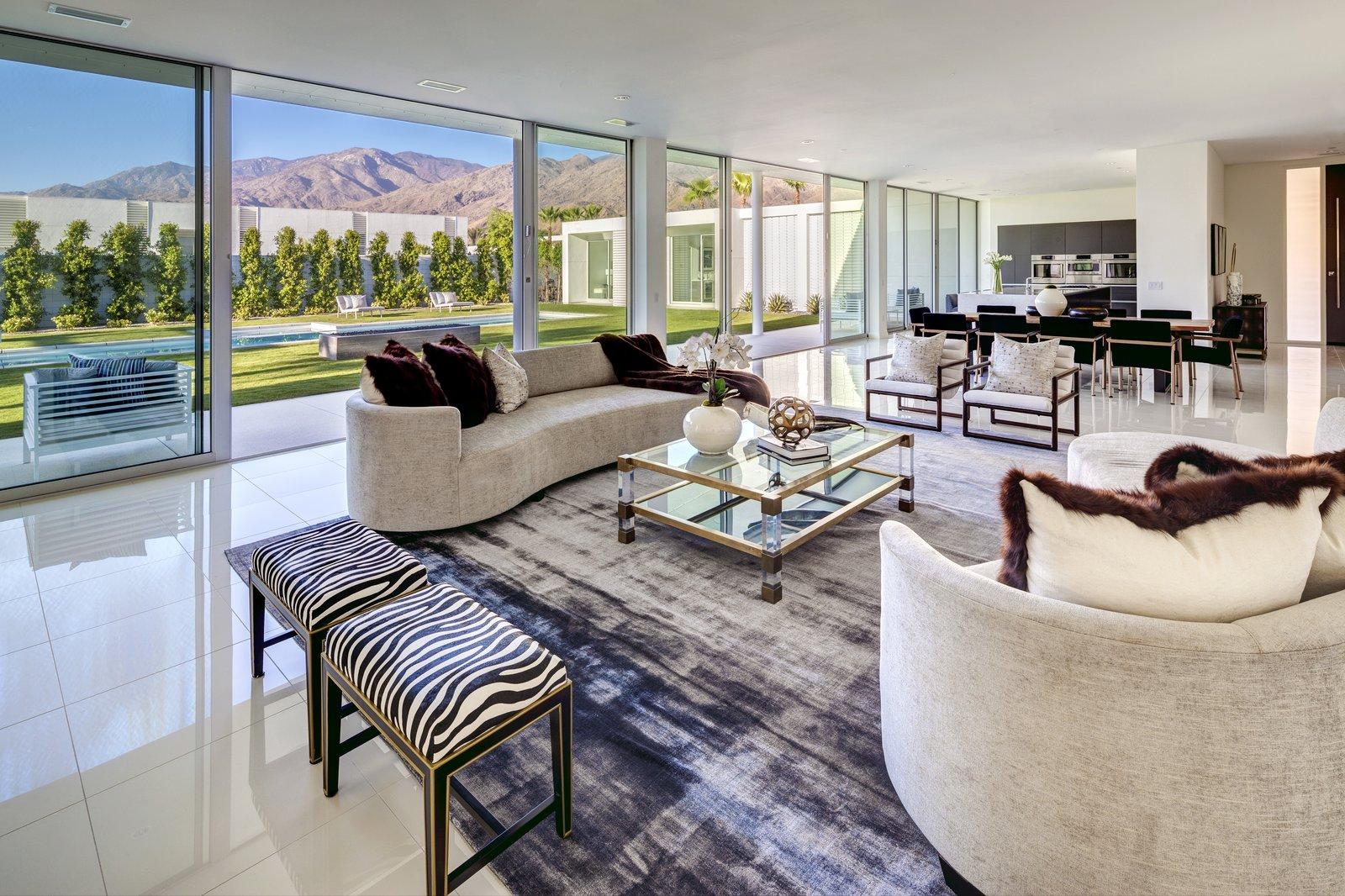 Living Room, Sofa, Coffee Tables, Chair, and Rug Floor  Linea Residence