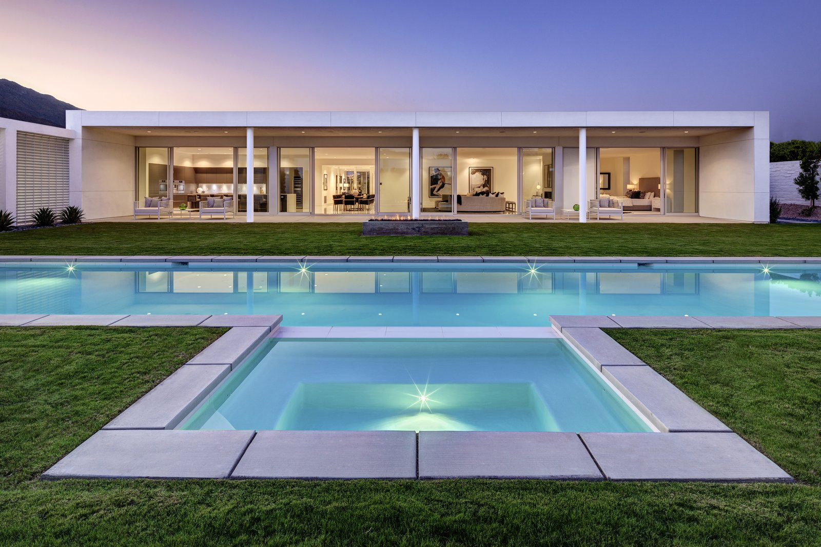 Outdoor, Large Pools, Tubs, Shower, Large Patio, Porch, Deck, and Back Yard  Linea Residence