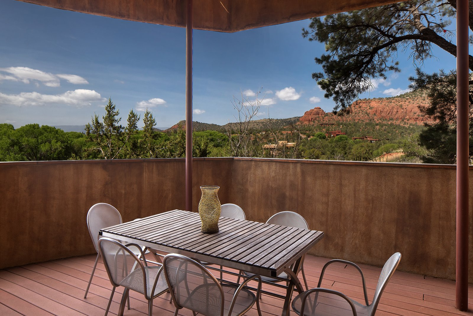 Outdoor, Back Yard, Trees, Shrubs, and Small Patio, Porch, Deck  2945 Red Rock Loop Rd.