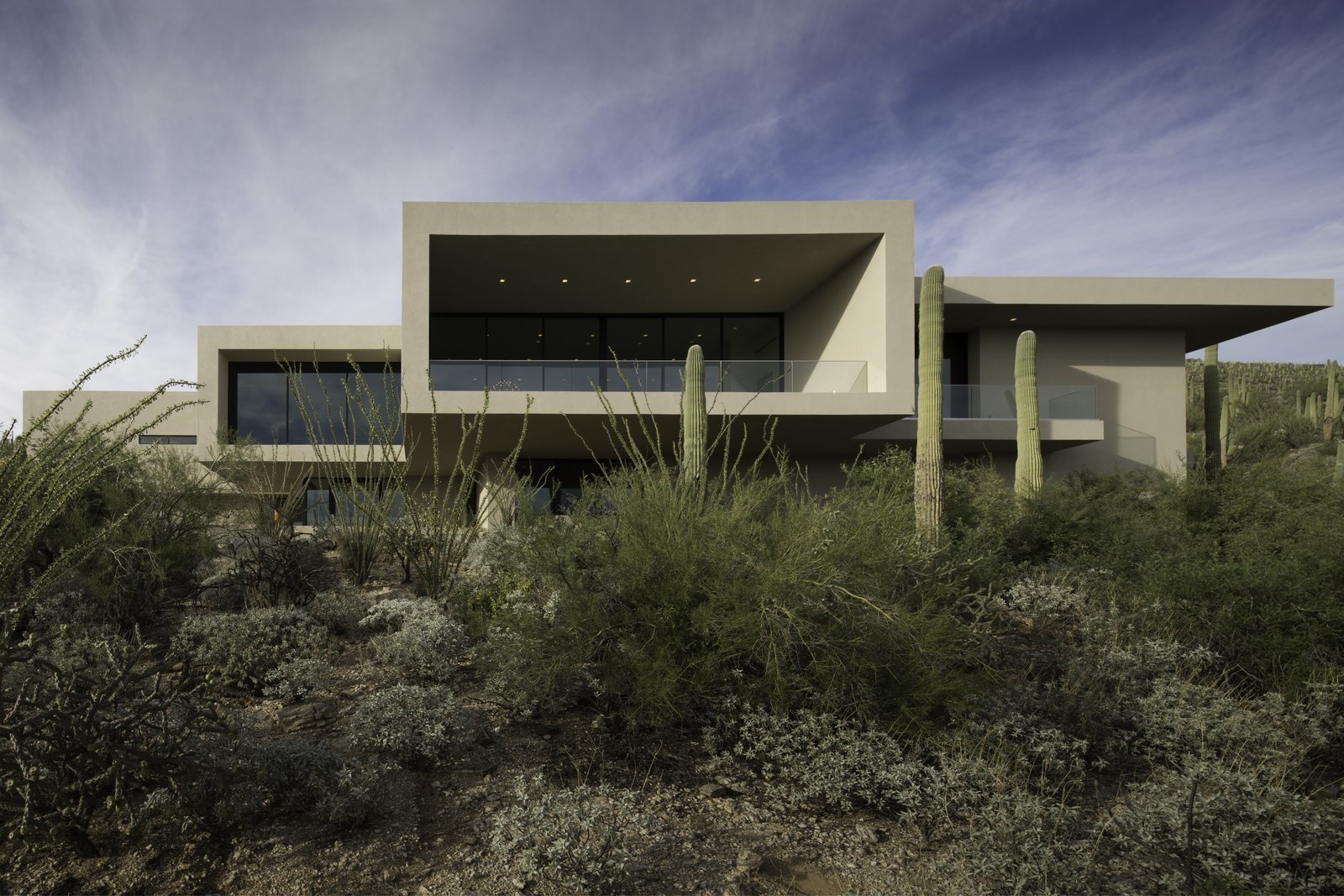 Tagged: Outdoor, Desert, and Front Yard.  Sabino Canyon Home by Kevin B Howard Architects
