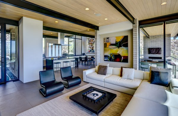 Tagged: Living, Chair, Sofa, Coffee Tables, Sectional, Ceiling, Recessed, Accent, Concrete, and Ceramic Tile.  Best Living Accent Ceramic Tile Photos from Canyon Pass Home at Dove Mountain